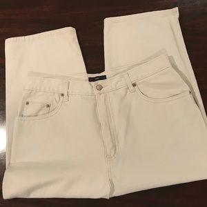 Vintage Bill Blass Khaki Capri Jeans